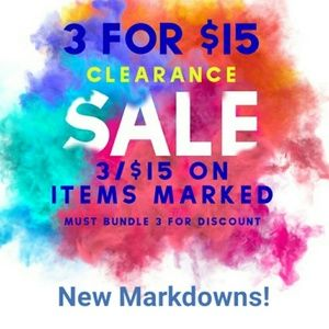 Other - Clearance Sale!New Markdowns!Pants, tops, bags,etc